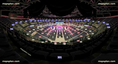 Chesapeake Energy Arena - View from Section 301 - Row M ...