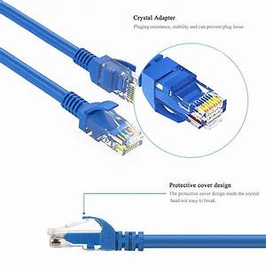 20 Ft Utp 4 Pairs 8p8c Rj45 To Rj45 Cat6 Network Cable Wiring Diagram Lan Network Cable