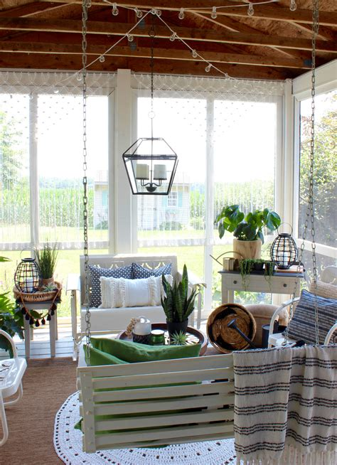 Porch Porch by Boho Style Back Porch With Macrame Curtains Hymns And Verses