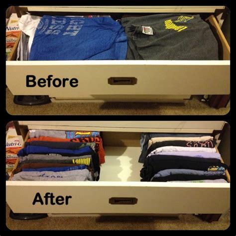 dresser drawer organization my own t shirt drawer