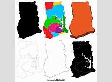 Vector Ghana Map Set Download Free Vector Art, Stock
