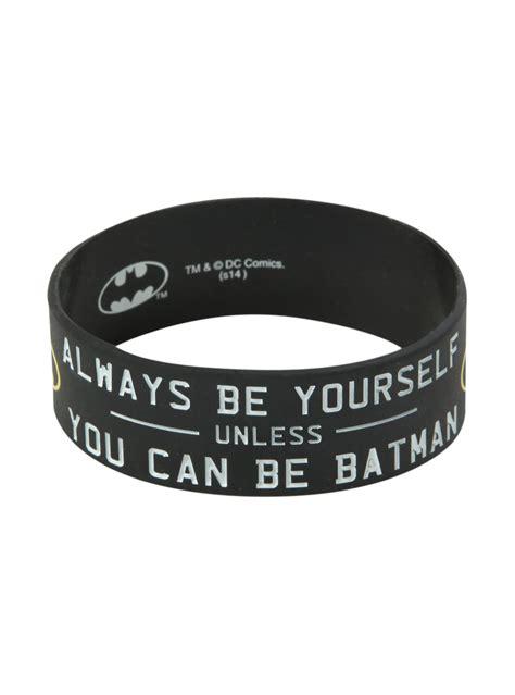 dc comics batman   rubber bracelet hot topic