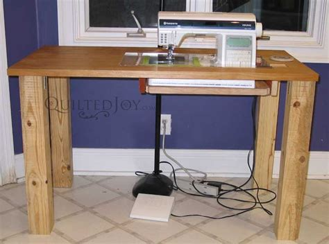 Make A Sewing Machine Table