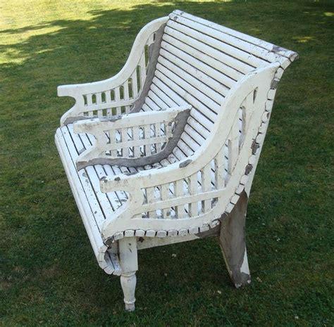early cth teak garden seat unusual form sale