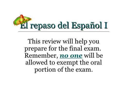 Repaso Del Espanol 1