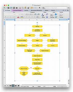 Add A Flowchart To A Ms Word Document
