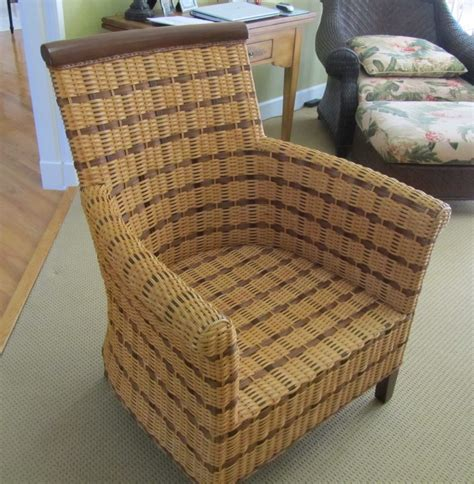 four 4 wicker dining casual chairs from pier one imports