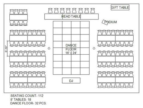 wedding reception layout seating chart with rectangular tables wedding stuff