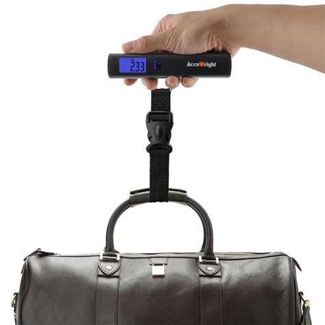 accuweight aw lsbb digital luggage scale weighing