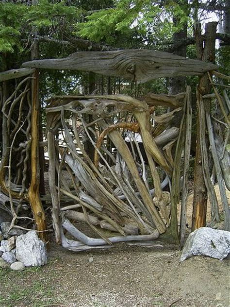 rustic garden gate idea crafts need ideas for a twig