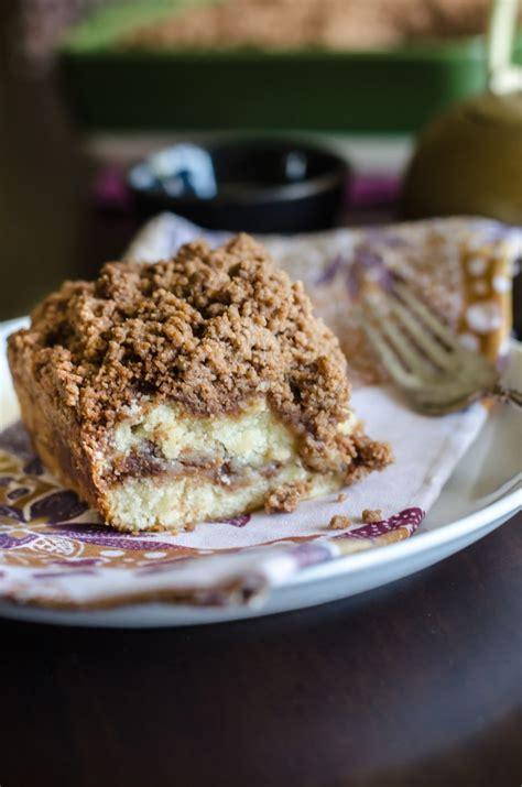 cinnamon coffee cake  streusel crumb topping