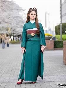 Vintage, Japanese, Kimono, U0026, Victory, Rolls, Hairstyle, Street