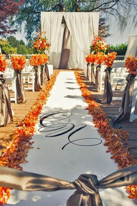 20 Best Favorite Fall Wedding Aisles Images On Pinterest