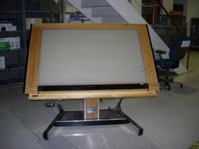 drafting table with lightbox drafting tables government auctions blog