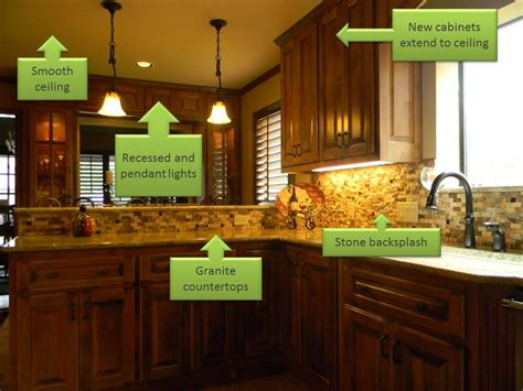 Kitchen Backsplash And Countertop Ideas - elements of an updated kitchen remodel san antonio