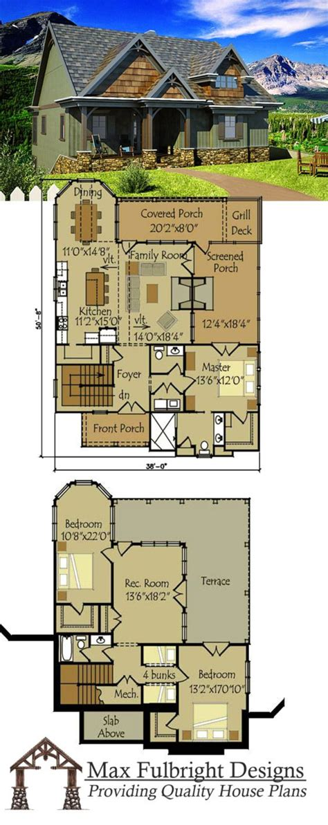 Genius Cottage And Cabin Plans by Small Cottage Plan With Walkout Basement House Small
