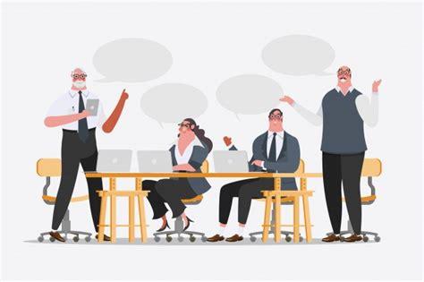 bureau de change à illustration de dessin de personnage de dessin animé