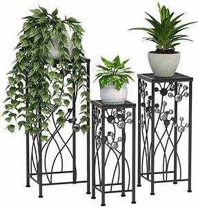 Mecor, Metal, Plant, Stand, 3, In, 1, Flower, Pot, Holder, Indoor, Outdoor, Display, Rack, For, Potted, Plant