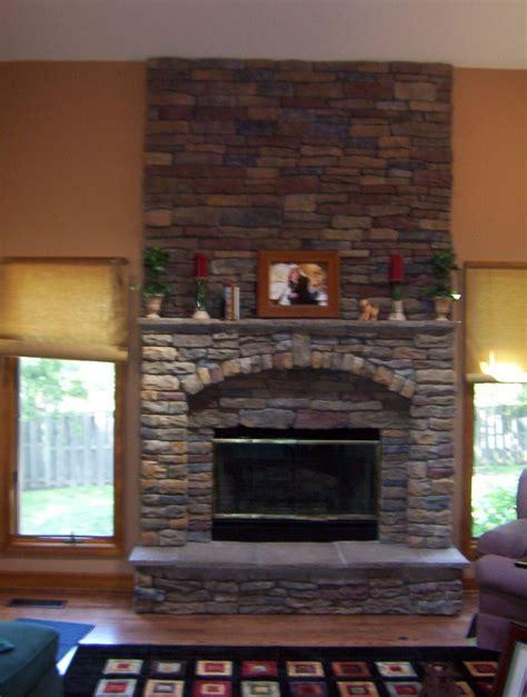 stone veneer  fireplace fireplace design ideas