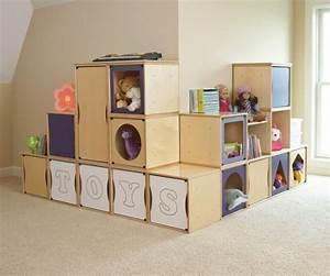 Cube En Bois Rangement : meuble rangement enfant pour instaurer l 39 ordre avec du go t ~ Melissatoandfro.com Idées de Décoration