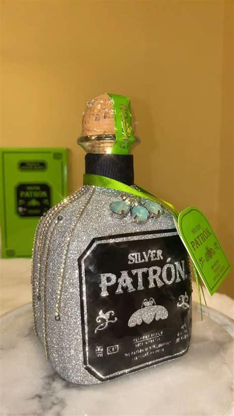 glammed silver patron tequila bottle video tequila bottles bedazzled bottle glitter wine