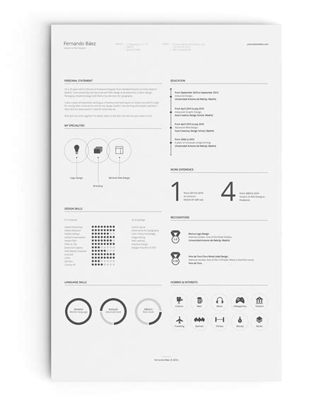 Behance Free Resume Template free resume template on behance