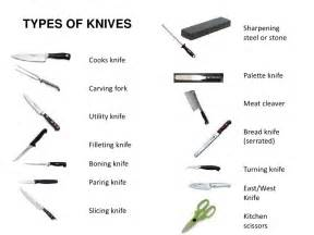 kinds of kitchen knives knife skills cuts