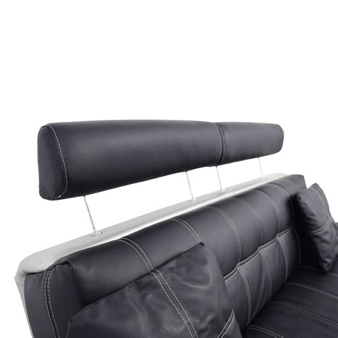 black leather sofa pillows 52 off black leather sofa with pillows sofas