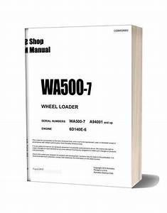 Komatsu Wheel Loader Wa500 7 Usa Shop Manual