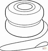 Yoyo Coloring Clipart Printable Clip Drawing Paper Supercoloring Categories sketch template