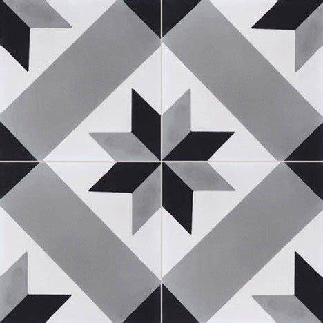 carrelage mural cuisine point p carreau de ciment sol et mur gris et noir etoile l 20 x l