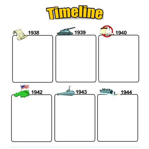 timeline templates  students