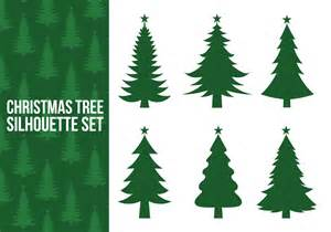 christmas tree silhouette vectors download free vector art stock graphics images