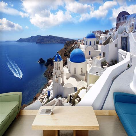 custom  photo wallpaper greece aegean mediterranean