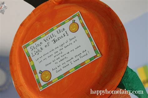 a christian pumpkin windsock craft free printable 524 | windsock 61
