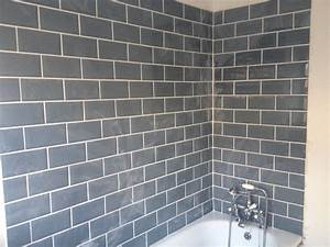 Image result for cream metro tiles with grey grout for Cream floor tiles with grey grout