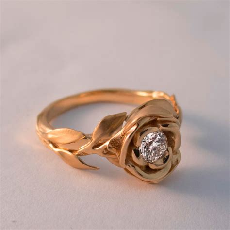 culture n lifestyle exquisite leaves rose shaped gold rings israeli