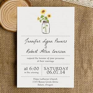 Rustic wedding invitations mason jars heart chalkboard for Simple wedding invitations with pictures