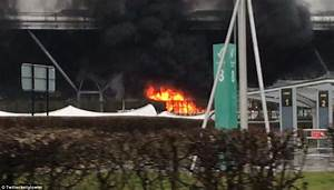 Coach On Fire In Car Park At Stansted Airport Daily Mail