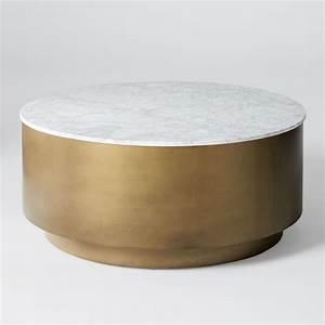 marble metal drum coffee table west elm coffee table With west elm drum coffee table