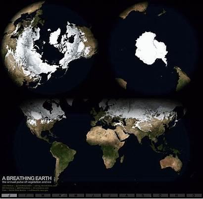 Earth Breathing Seasons Animation Planet Mesmerising Heartbeat