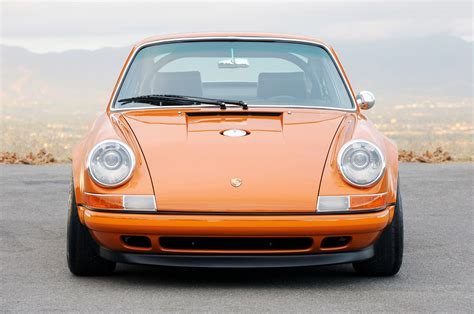 vintage orange porsche singer porsche 911 re imagined