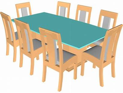 Table Dining Clipart Chairs Kitchen Cliparts Library