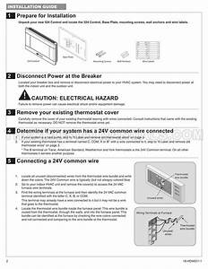 Trane Xr524 Thermostat Installation Instructions And User