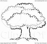 Tree Canopy Lush Mature Outlined Illustration Vector Royalty Clip Perera Lal Clipart Regarding Notes sketch template