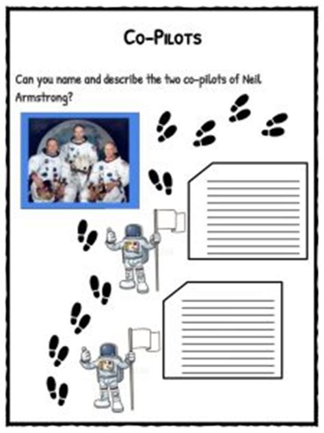 neil armstrong facts information worksheets  kids