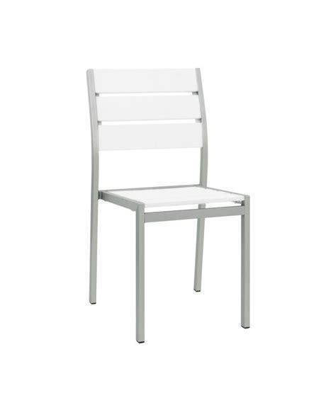chaise aluminium exterieur chaises d extérieur structure métal le mobilier du pro