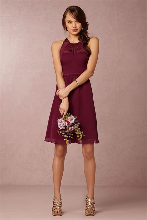 Georgina Bridesmaids Dress In Black Cherry From Bhldn