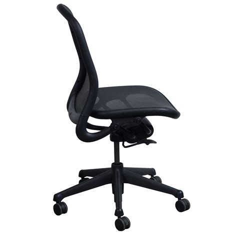 Knoll Chadwick Armless Used Task Chair Black Mesh