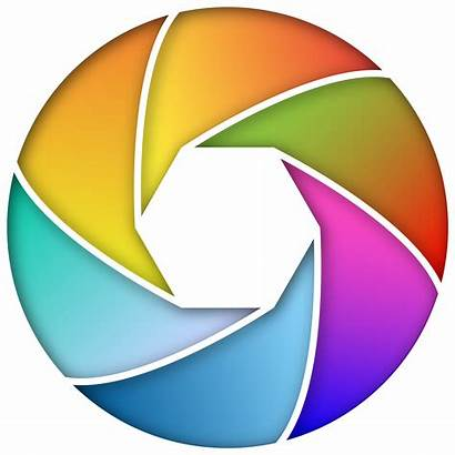 Camera Lens Shutter Clipart Icon Colorful Enhanced
